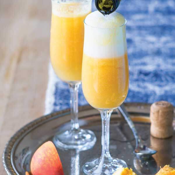 Enjoy fresh, local peaches with the Peach Bellini recipe from Metropolitan Market