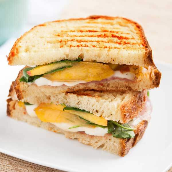Enjoy fresh, local peaches with the Peach and Prosciutto Grilled Cheese recipe from Metropolitan Market