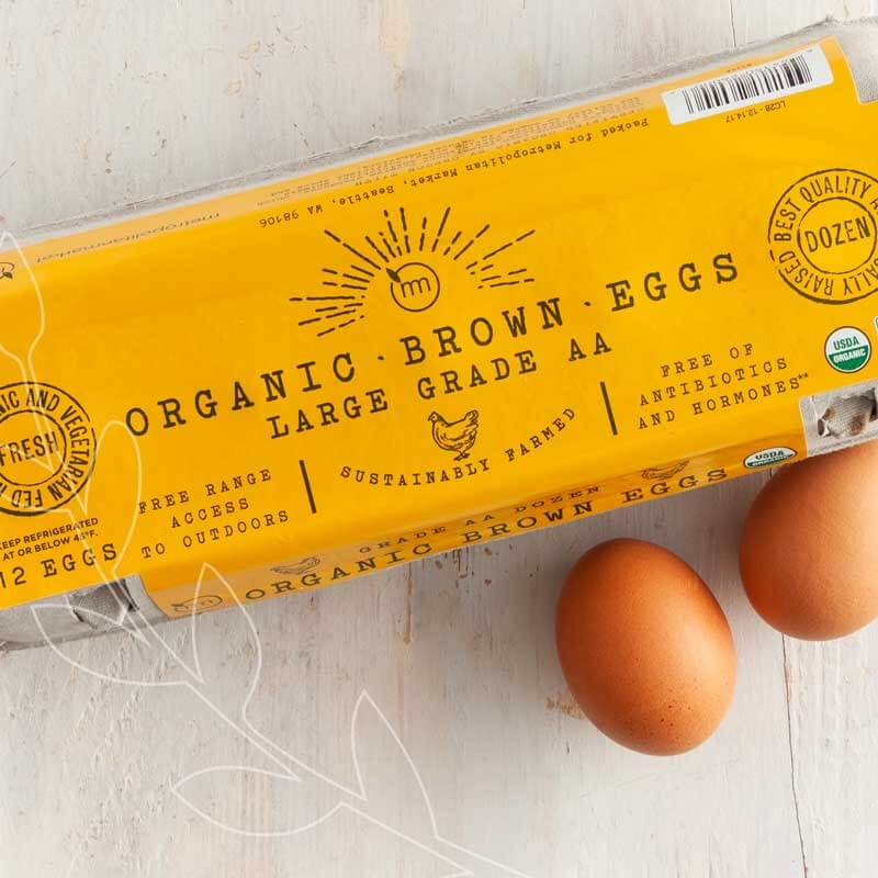 Our organic eggs are delivered fresh from the farm twice a week. #BestofMet